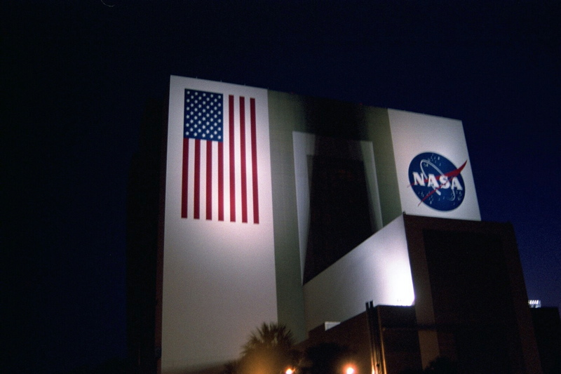 The VAB at night