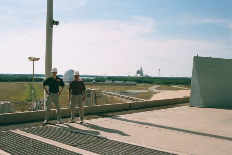 Aaron and his Dad at Launch Tower 1