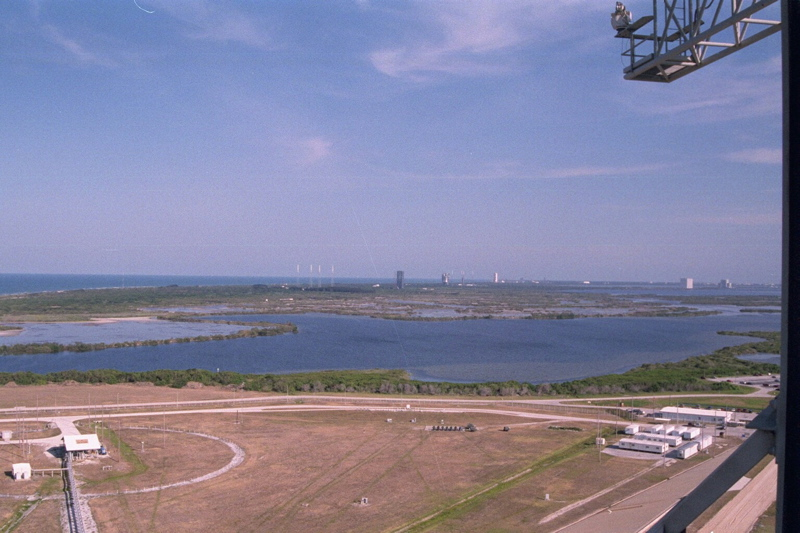 Unobstructed view from top of the Launch Tower