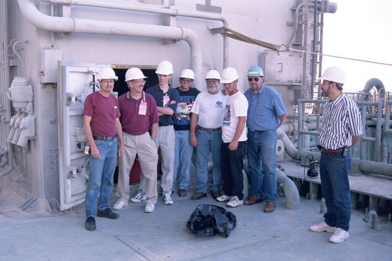 NASA Technicians on the Launch Tower