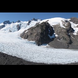 Blue Glacier from Lateral Moraine Panoramic