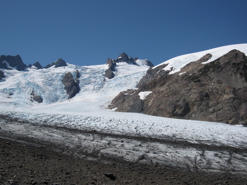 Blue Glacier Ice Falls and Snow Dome
