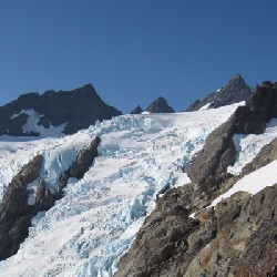 Blue Glacier Ice Falls (from Snow Dome Face, HD)